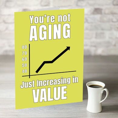 NOW ONLY £7.99! You're Not Aging Just Increasing in Value