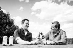 Rich and paul - enjoying a beer