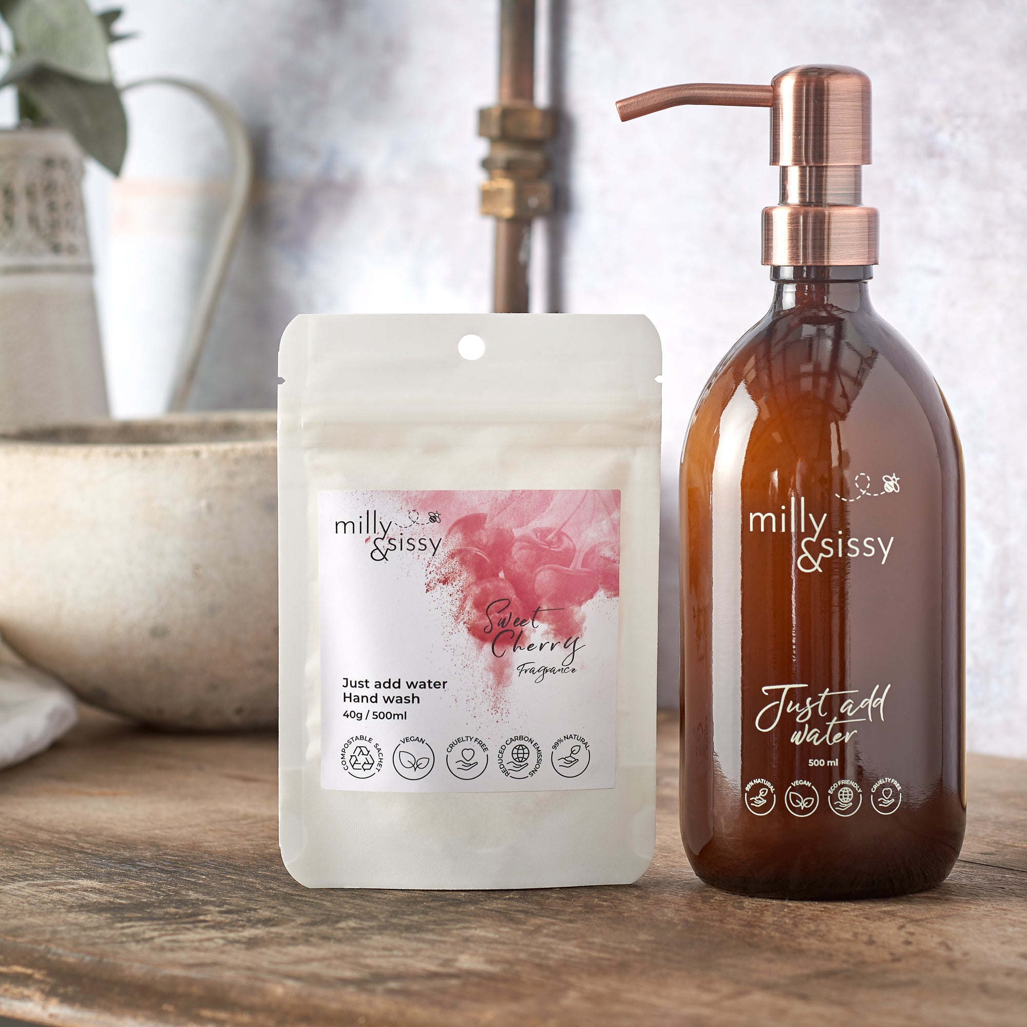 Zero Waste Sweet Cherry Hand Wash Refill