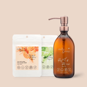 Candied Tangerine & Zesty Lime, hair & body wash SET