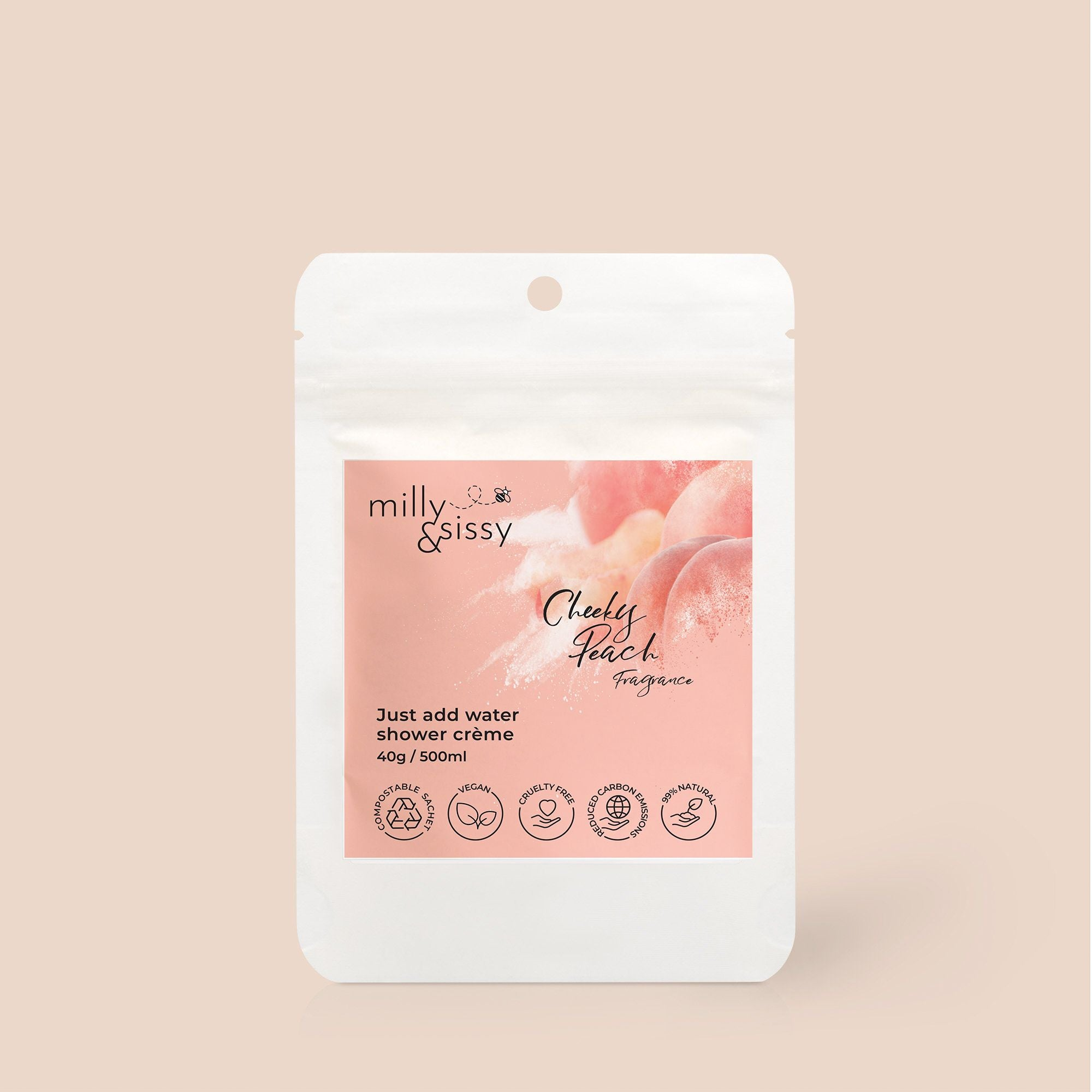 ZERO WASTE Shower Crème Cheeky Peach Refill