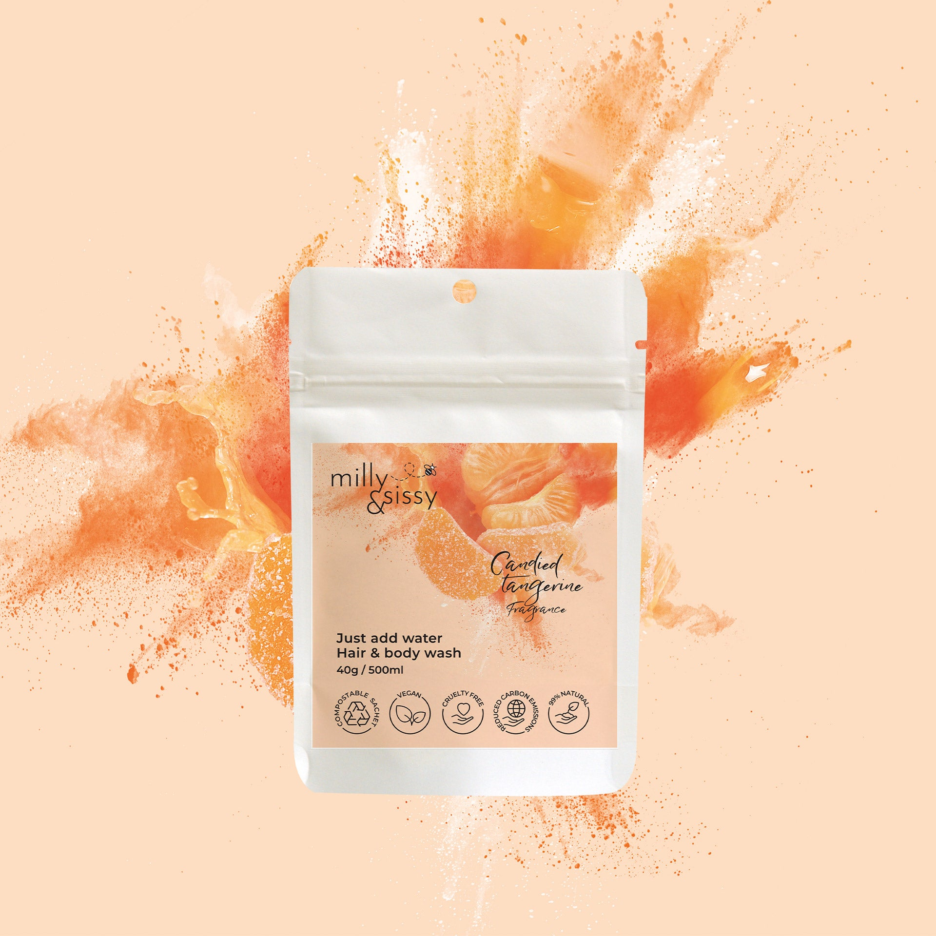 Zero Waste Candied Tangerine Hair & Body Wash Refill