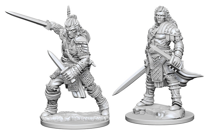 Pathfinder Deep Cuts Unpainted Miniatures: W1 Human Male Fighter