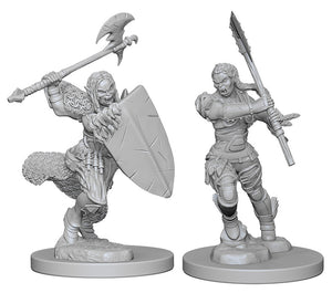 Pathfinder Deep Cuts Unpainted Miniatures: W1 Half-Orc Female Barbarian