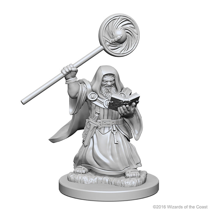 Dungeons & Dragons Nolzur`s Marvelous Unpainted Miniatures: W1 Dwarf Male Wizard
