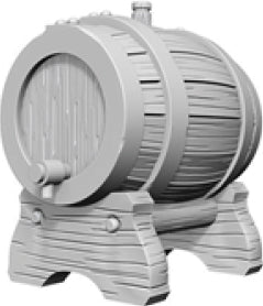WizKids Deep Cuts Unpainted Miniatures: W2 Keg Barrels