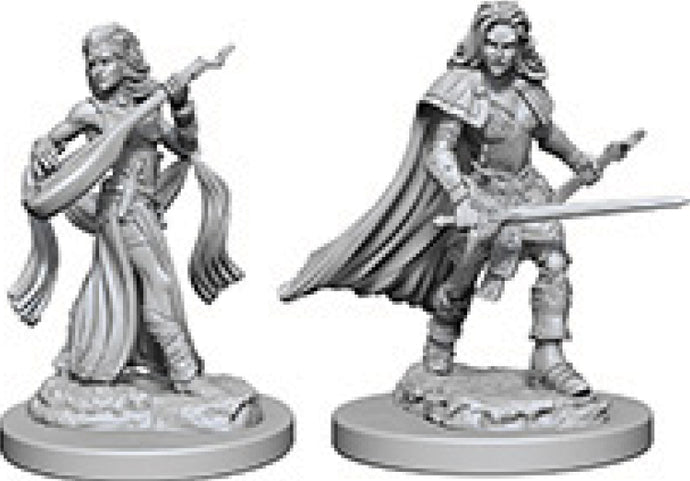 Pathfinder Deep Cuts Unpainted Miniatures: W4 Human Female Bard