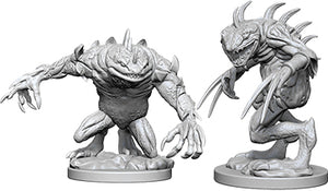 Dungeons & Dragons Nolzur`s Marvelous Unpainted Miniatures: W5 Grey Slaad & Death Slaad