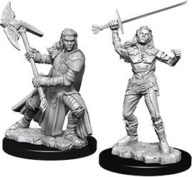 Dungeons & Dragons Nolzur`s Marvelous Unpainted Miniatures: W7 Half-Orc Female Fighter