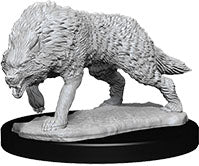 WizKids Deep Cuts Unpainted Miniatures: W7 Timber Wolves