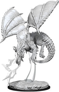 Dungeons & Dragons Nolzur`s Marvelous Unpainted Miniatures: W8 Young Blue Dragon