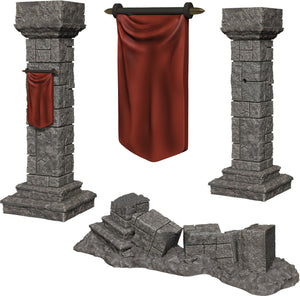 WizKids Deep Cuts Unpainted Miniatures: W11 Pillars & Banners