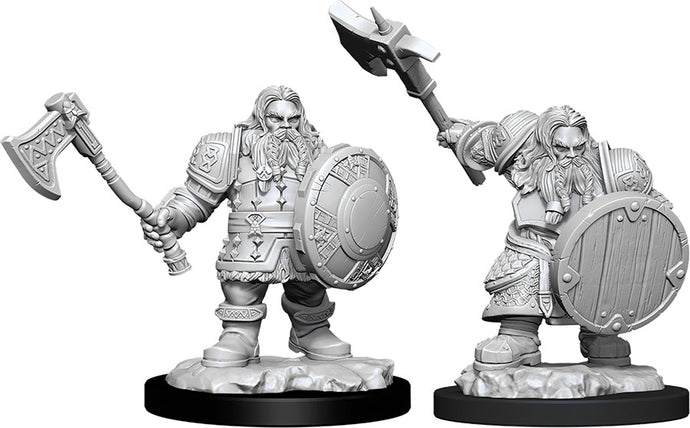 Dungeons & Dragons Nolzur`s Marvelous Unpainted Miniatures: W11 Male Dwarf Fighter