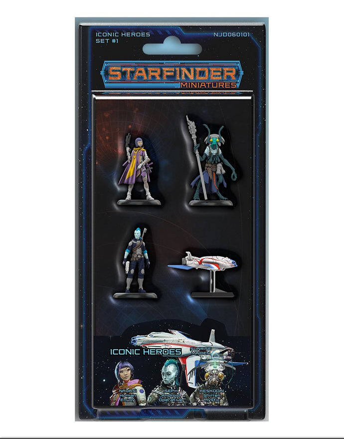 Starfinder Pre-painted Iconic Heroes Set 1
