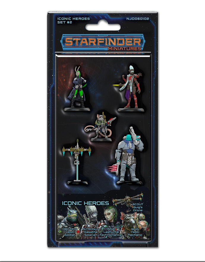 Starfinder Pre-Painted Iconic Heroes Set 2