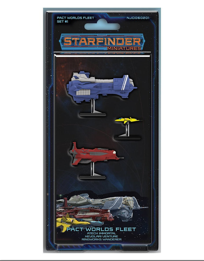 Starfinder Pre-Painted Pact Worlds Fleet