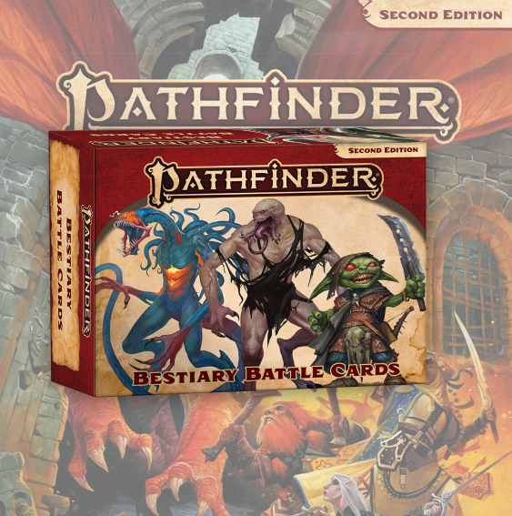 Pathfinder Bestiary Battle Cards (Pathfinder RPG Second Edition)