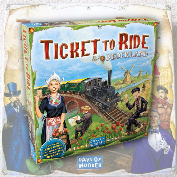 Ticket to Ride Map Collection 4:  Nederland (The Netherlands)