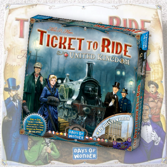 Ticket to Ride Map Collection 5: United Kingdom and Pennsylvania