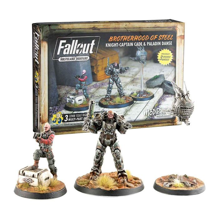 Fallout Brotherhood of Steel: Knight-Captain Cade and Paladin Danse Fallout: Wasteland Warfare Modiphius Entertainment