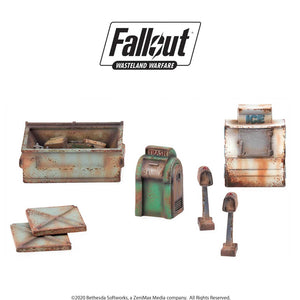 Fallout: Wasteland Warfare - Boston Street Scatter Fallout: Wasteland Warfare Modiphius Entertainment