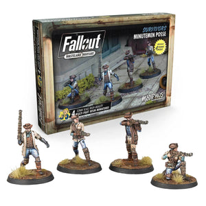Fallout: Wasteland Warfare Models - Survivors: Minutemen Posse Fallout: Wasteland Warfare Modiphius Entertainment