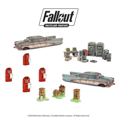 Fallout: Wasteland Warfare - Starter Scenic Set - Wargaming terrain Fallout: Wasteland Warfare Modiphius Entertainment