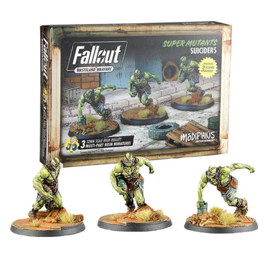 Fallout: Wasteland Warfare - Super Mutants: Suiciders Fallout: Wasteland Warfare Modiphius Entertainment