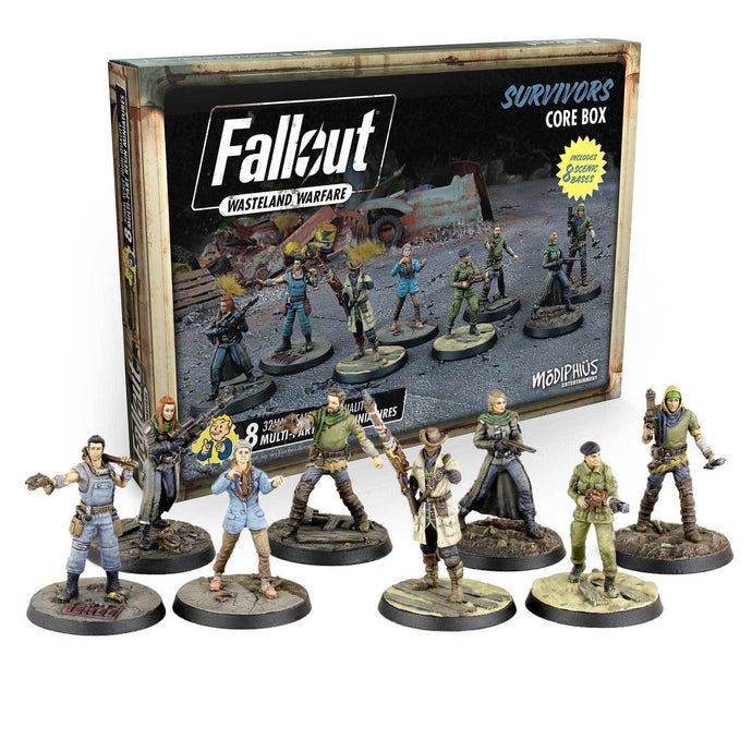 Fallout: Wasteland Warfare - Survivors Core Box Fallout: Wasteland Warfare Modiphius Entertainment