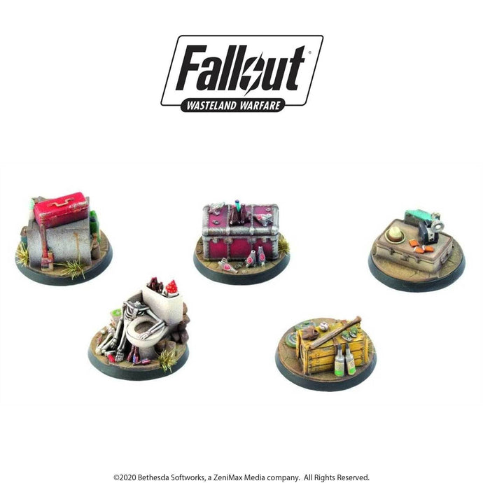 Fallout: Wasteland Warfare - Terrain Expansion: Objective Markers 1 Fallout: Wasteland Warfare Modiphius Entertainment