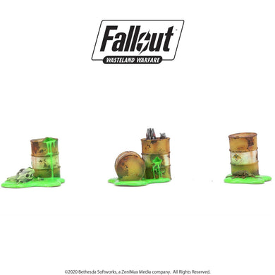 Fallout: Wasteland Warfare - Terrain Expansion: Radioactive Containers Fallout: Wasteland Warfare Modiphius Entertainment