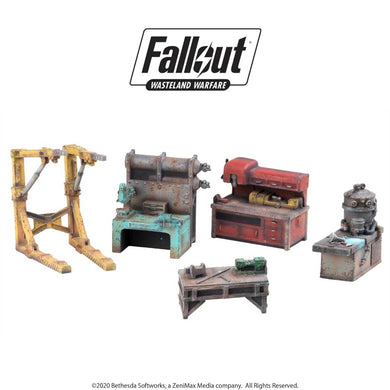 Fallout: Wasteland Warfare - Terrain Expansion: Settlement Work Benches Fallout: Wasteland Warfare Modiphius Entertainment