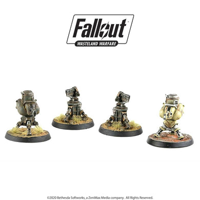 Fallout: Wasteland Warfare - Terrain Expansion: Turrets Fallout: Wasteland Warfare Modiphius Entertainment