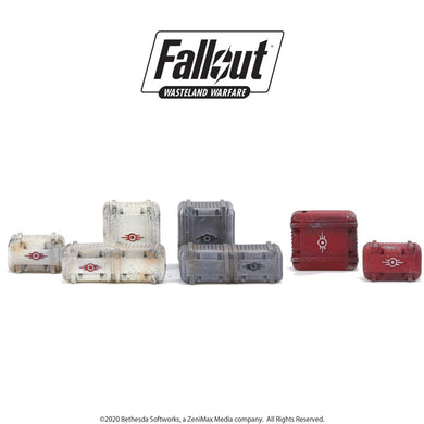 Fallout: Wasteland Warfare - Terrain Expansion: Vault Tec Supplies Fallout: Wasteland Warfare Modiphius Entertainment