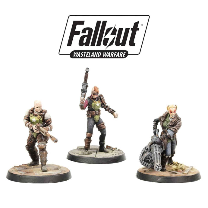 Fallout: Wasteland Warfare Wargame Miniatures - Ack Ack, Sinjin & Avery Fallout: Wasteland Warfare Modiphius Entertainment