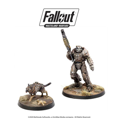 Fallout: Wasteland Warfare - X-01 Survivor & Dogmeat Fallout: Wasteland Warfare Modiphius Entertainment