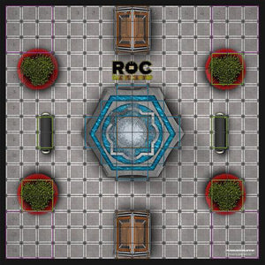 ROC Battle Royale Mat - Mall Fountain Court