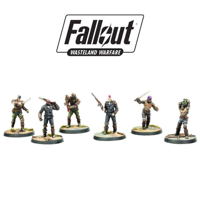 Raiders, Scavvers & Psychos | Fallout: Wasteland Warfare Miniatures Fallout: Wasteland Warfare Modiphius Entertainment