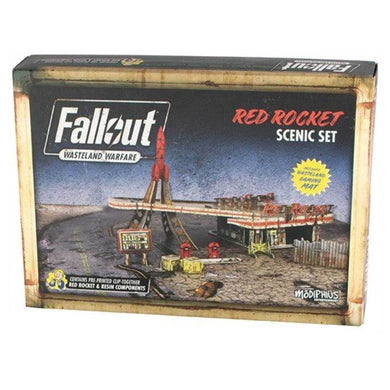 Red Rocket Scenic Set | Fallout: Wasteland Warfare Miniatures Fallout: Wasteland Warfare Modiphius Entertainment