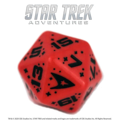 Star Trek Adventures: 1 x D20 Command Dice (Red) Star Trek Accessories Modiphius Entertainment