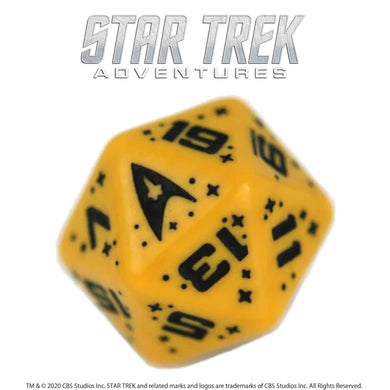 Star Trek Adventures: 1 x D20 Operations Dice (Gold) Star Trek Accessories Modiphius Entertainment
