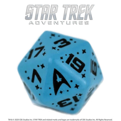 Star Trek Adventures: 1 x D20 Sciences Dice (Blue) Star Trek Accessories Modiphius Entertainment