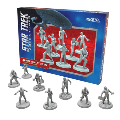 Star Trek Adventures Miniatures: The Next Generation Bridge Crew Star Trek Miniatures Modiphius Entertainment