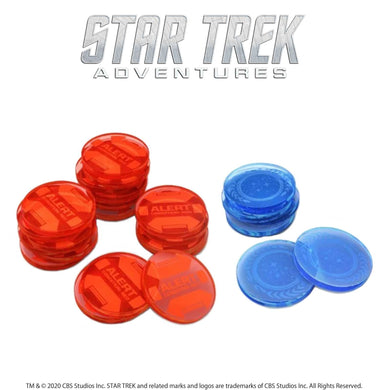 Star Trek Adventures: Momentum and Threat Token Set Star Trek Accessories Modiphius Entertainment