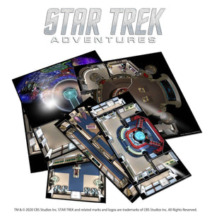 Star Trek Adventures: The Next Generation Starfleet Deck Tiles Star Trek Accessories Modiphius Entertainment