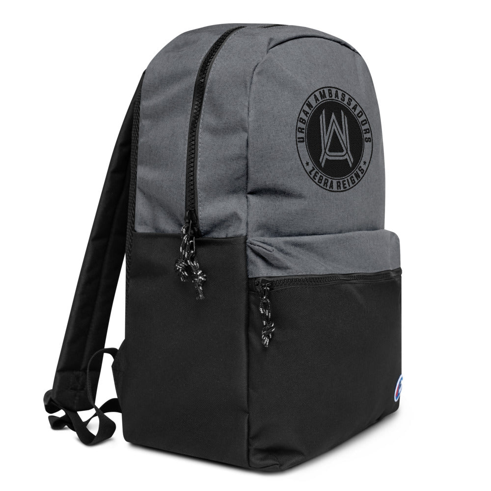 URBAN AMBASSADORS MONOGRAM EMBROIDERED CHAMPION BACKPACK