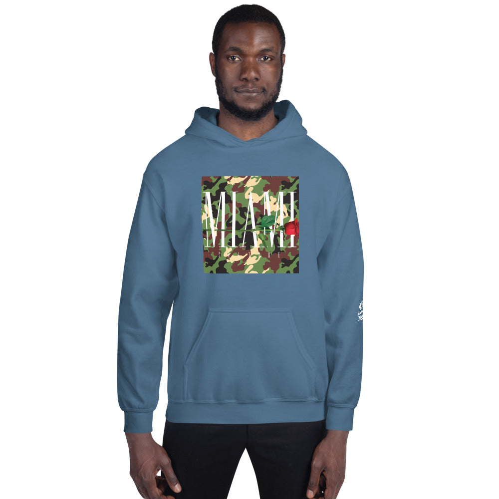 Miami Thorns And Roses Camo Hoodie Wear