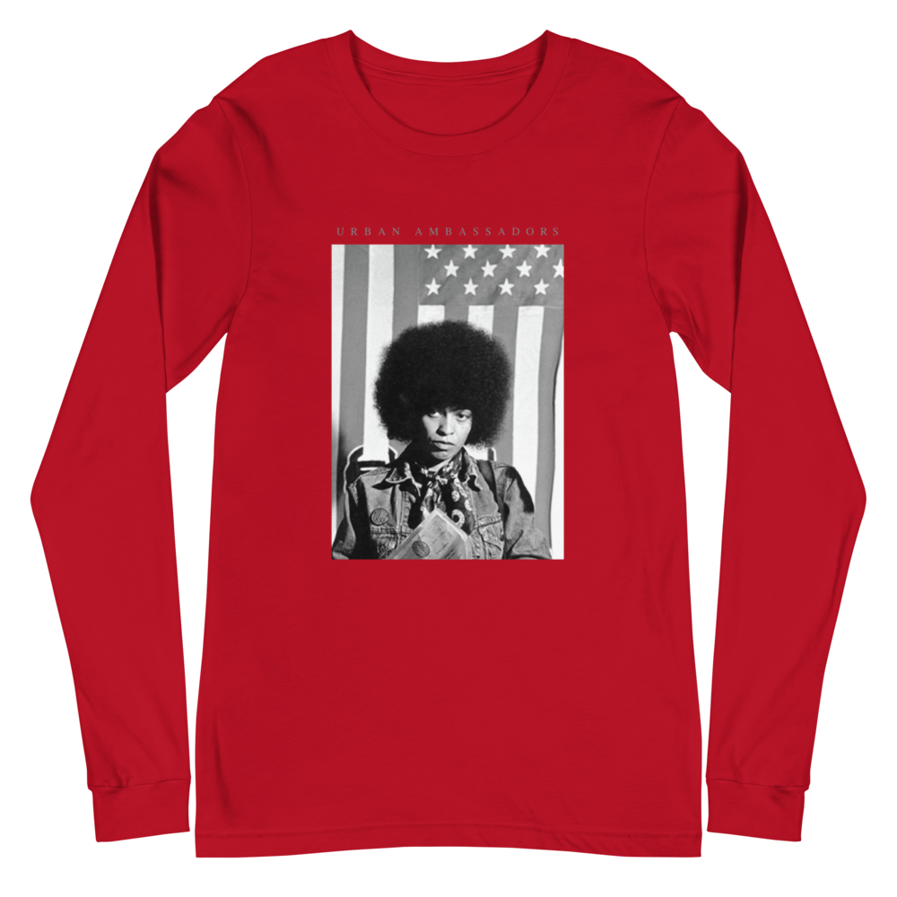 ANGELA DAVIS FREEDOM FIGHTERS T-SHIRT L/S