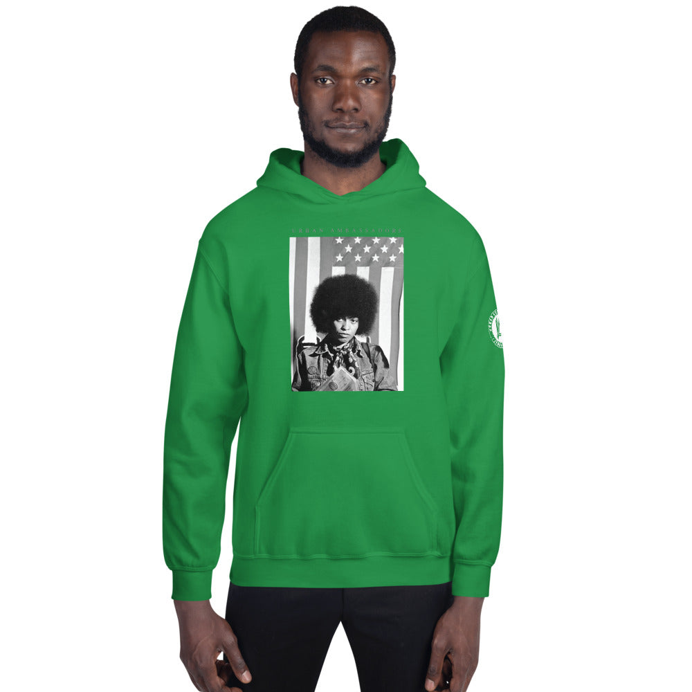 ANGELA DAVIS FREEDOM FIGHTERS UNISEX HOODIE