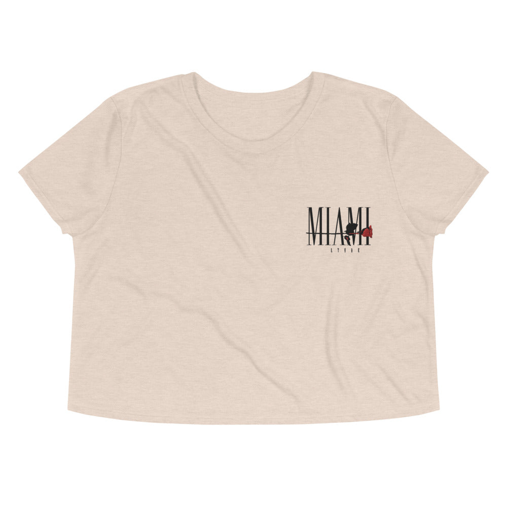 Miami Thorns and Roses Crop Tee